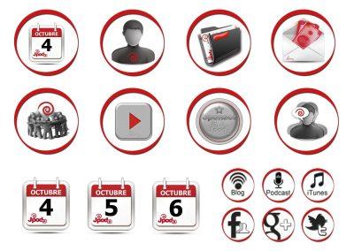 Iconos creados expresamentes para la web de las Jpod13
