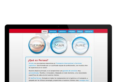 Detalle de la web de Perseo