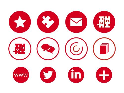 Diseño de iconos para la web del Gumcam