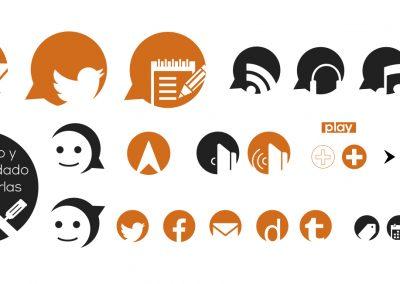 Diversos iconos personalizados y exclusivos, de la web de iCharlas