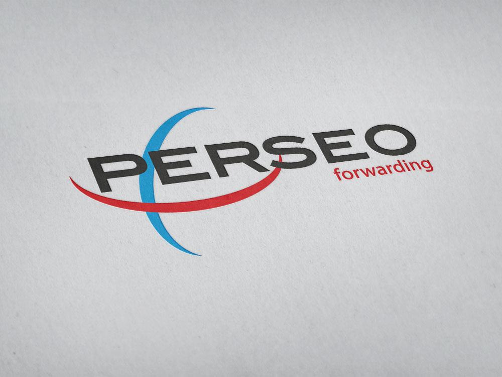 Logotipo principal de Perseo impreso.