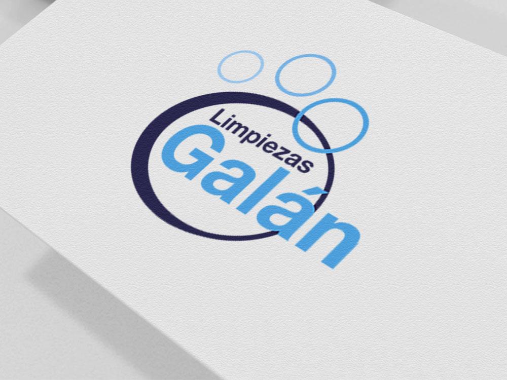 Logotipo impreso Limpiezas Galán