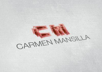 Logotipo impreso Carmen Mansilla