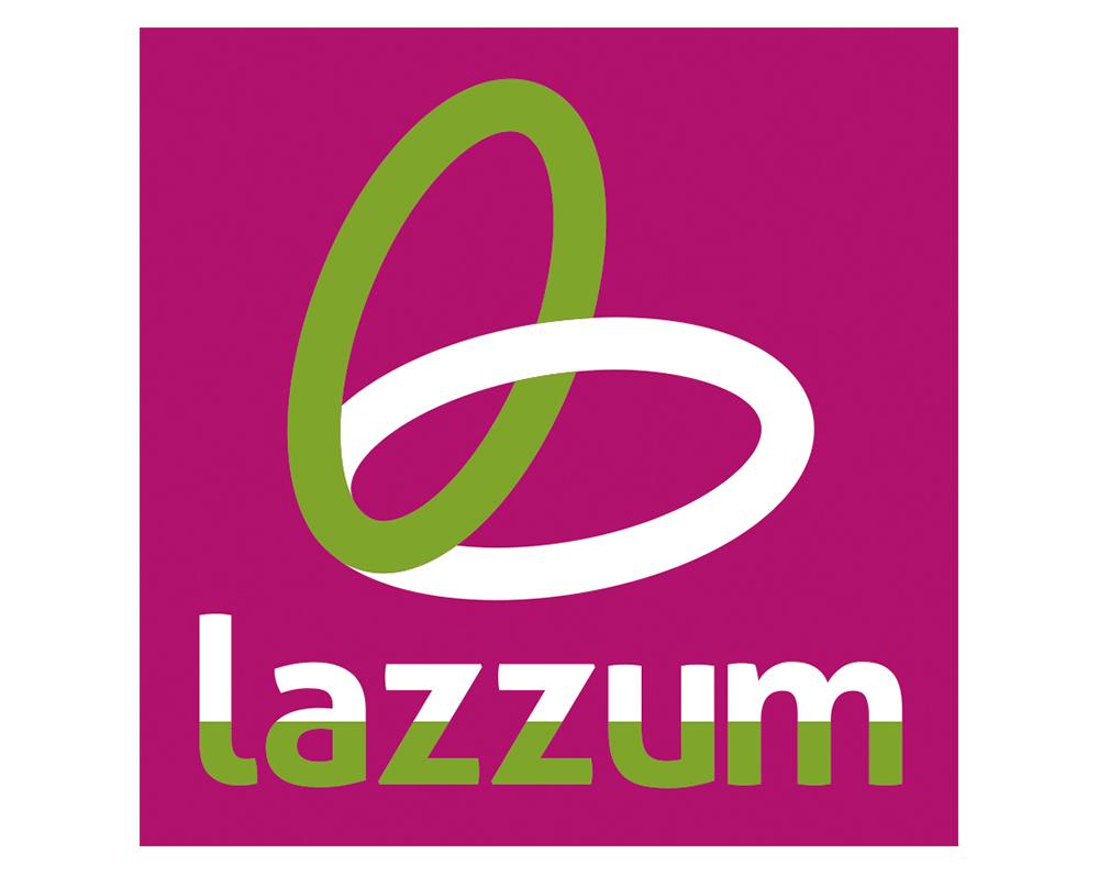 Logotipo formato cuadrado lazzum