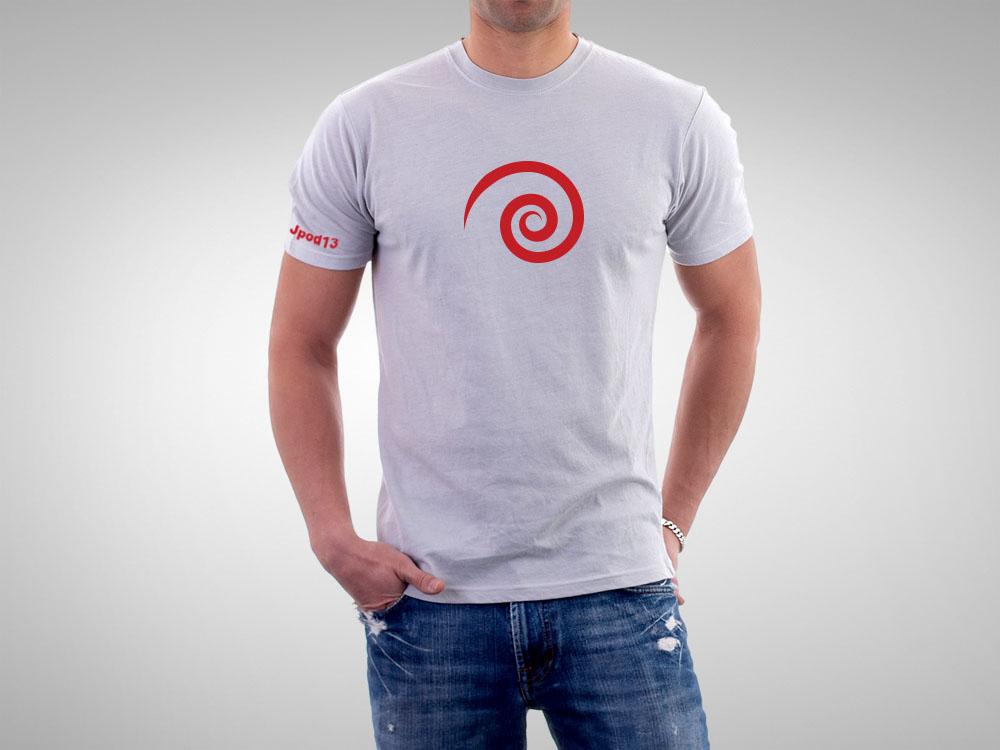 Camiseta gris Jpod13, diseñada expresamente para los Podcasters