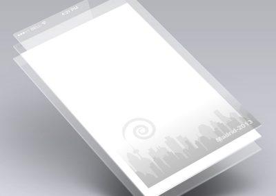 Diseño de fondos de pantalla para la aplicación móvil Jpod13