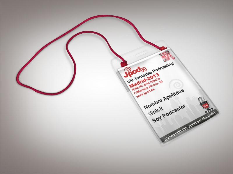 identificacio jpod - todos los asistentes debían de ir convenientemente identificados
