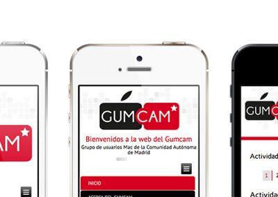 iPhones con web Gumcam