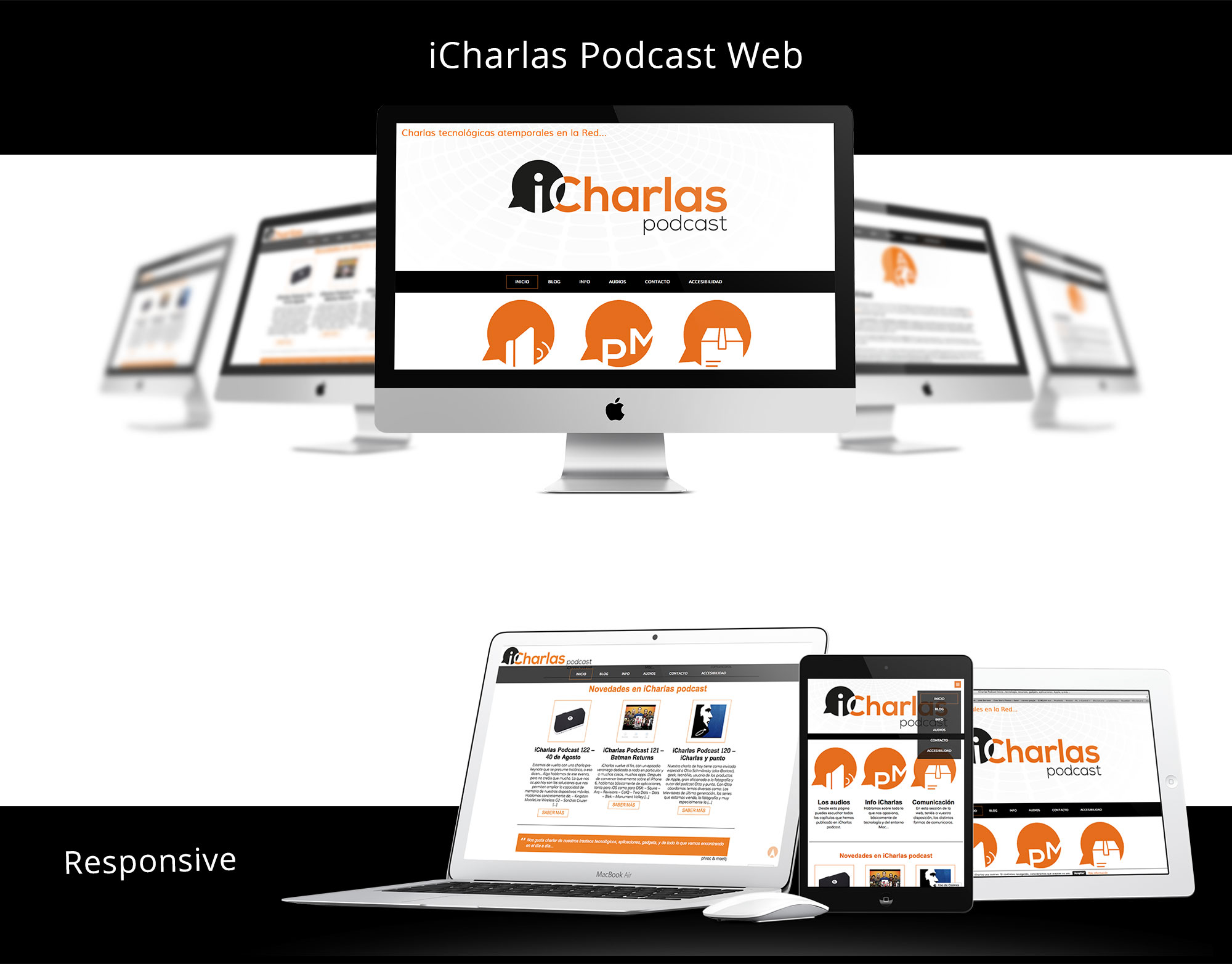 Website iCharlas Podcast