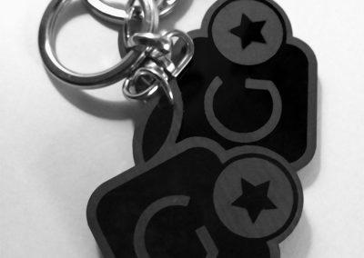 Llavero con logo-icono Gumcam