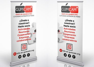 Roll-up utilizados en diversos actos del Gumcam