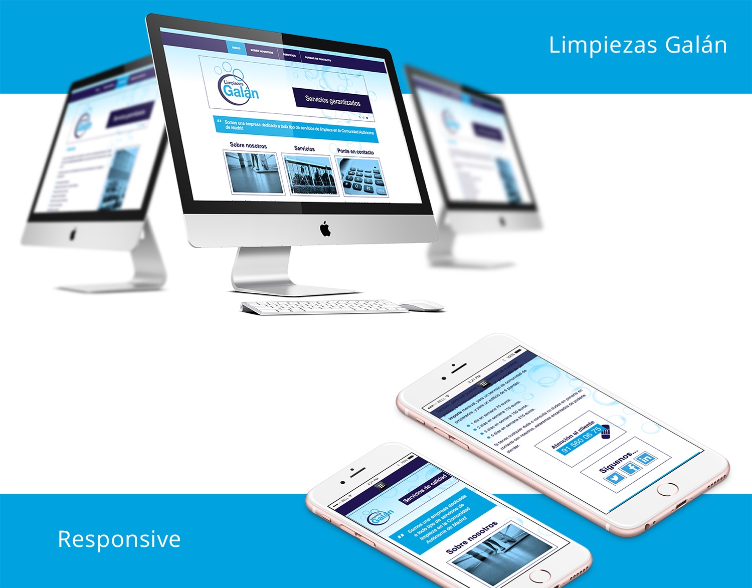 Website de Limpiezas Galán