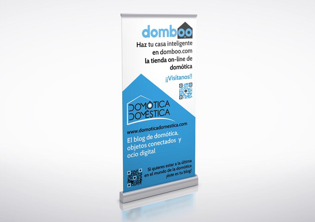 Roll-up publicitario domboo mix domótica doméstica