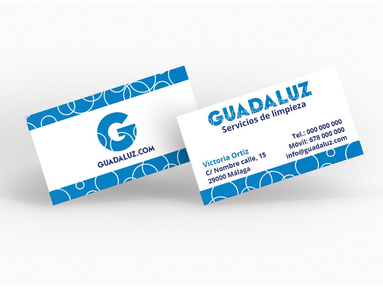 Tarjetas fondo blanco Guadaluz